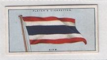 Flag of Siam Thailand cigarette insert cards